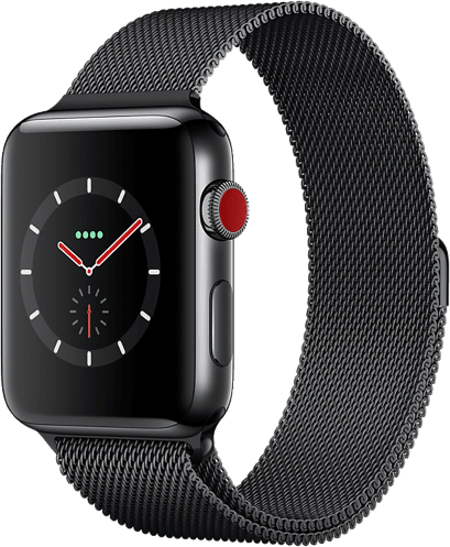 Space Grau Apple Watch Series 3 GPS + Cellular, 38mm.1