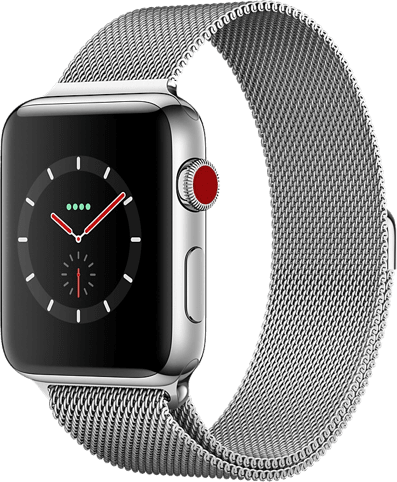 Silver Apple Watch Series 3 GPS + Cellular, 42mm.1