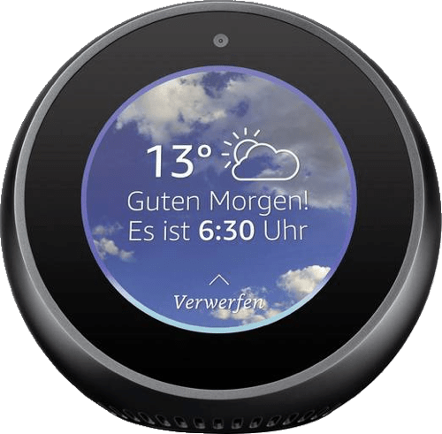 Black Amazon Echo Spot.1