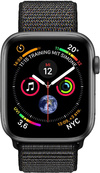 Schwarz & Grau Apple Watch Series 4 GPS, 40mm.1