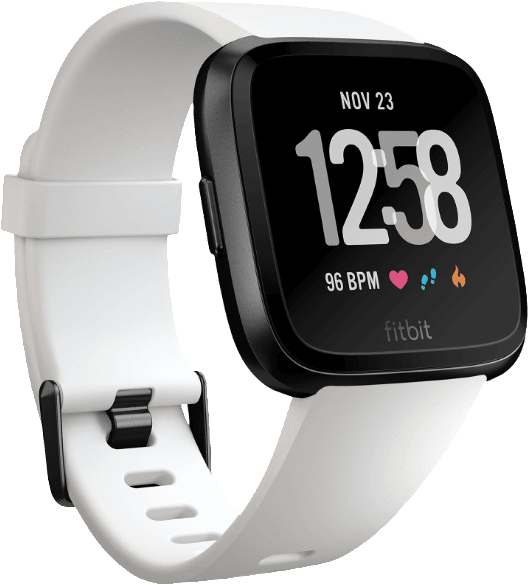 White / Black Fitbit Versa.2