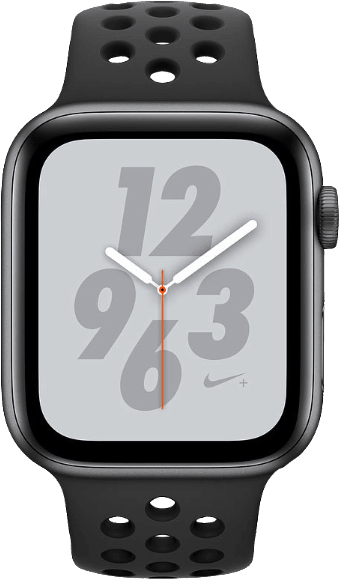 Grau Sports Apple Watch Nike+ Series 4 GPS+Cellular, 44 mm Aluminium-Gehäuse, Sportschlaufe / -band.1