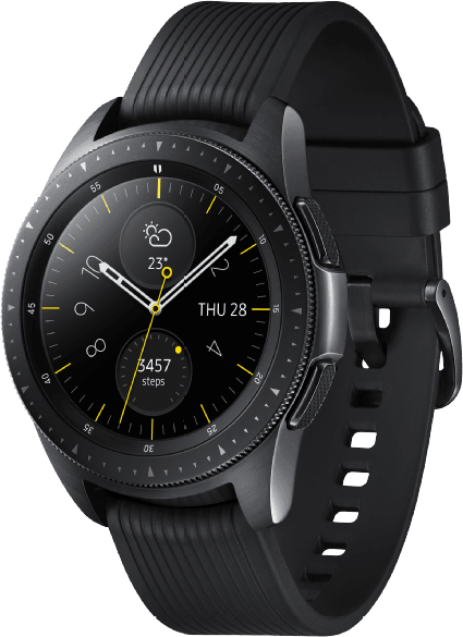 Black Samsung Galaxy Watch LTE, 42mm.2
