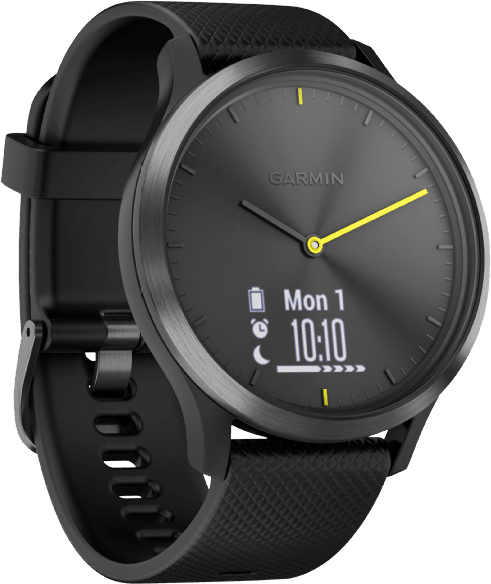 Black / Slate Garmin vívomove HR Sport, L.2