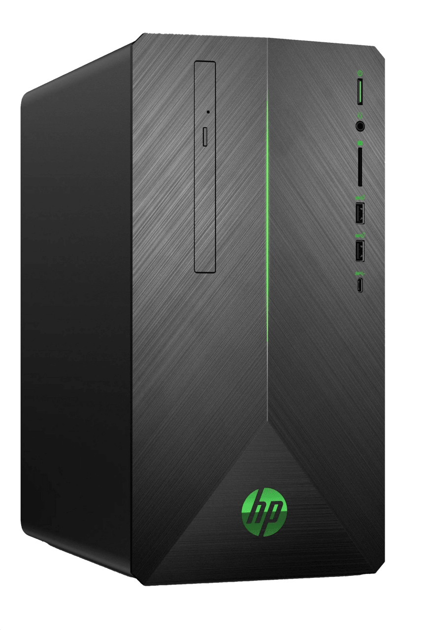 Black / Green HP Pavilion Gaming Desktop 690-0035ng.1
