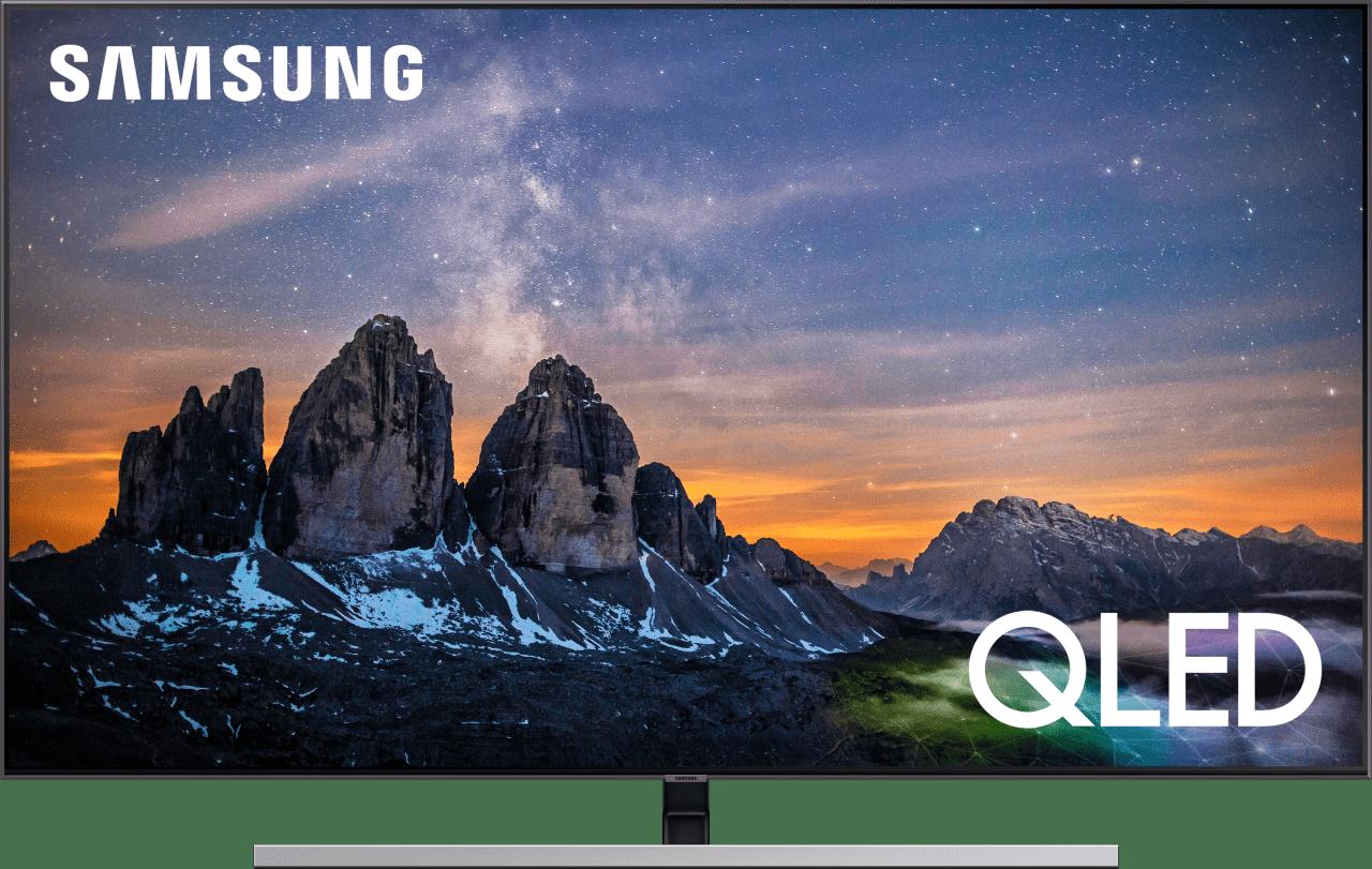 """Silver Samsung TV 55"""" Q80R.1"""