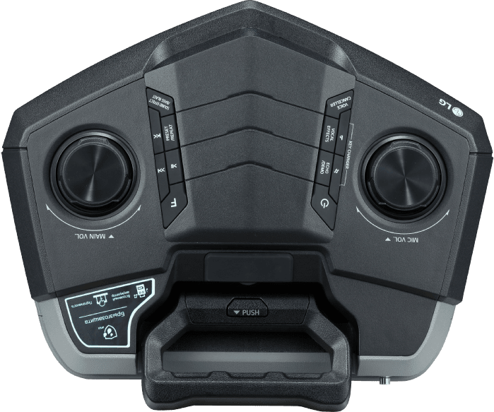 Black LG RK3 One-Body & LOUDR Speaker System .4