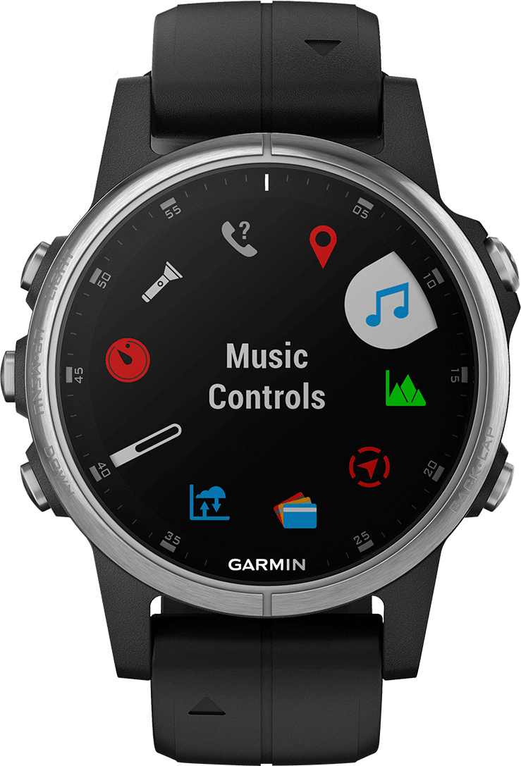 Black Garmin Fēnix® 5S Plus, 20 mm.2