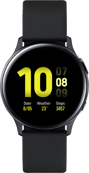 Aqua Black Samsung Galaxy Watch Active2, 40mm Aluminium case, Sport band.1