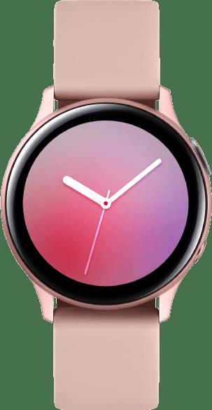 Pink Gold Samsung Galaxy Watch Active2, 40 mm Aluminium-Gehäuse, Sportband.1