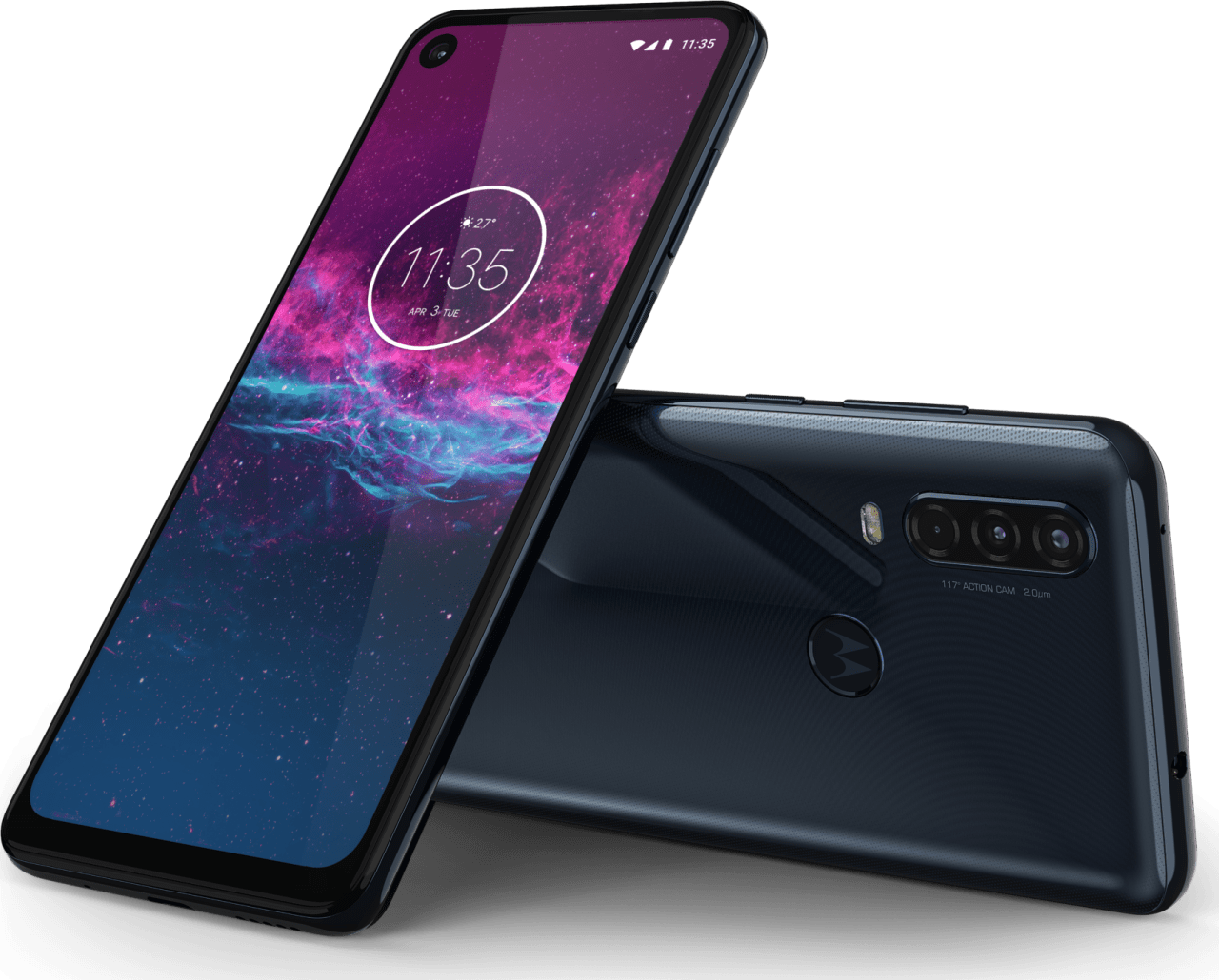 Denim Blau Motorola One Action (2019) 128GB.3