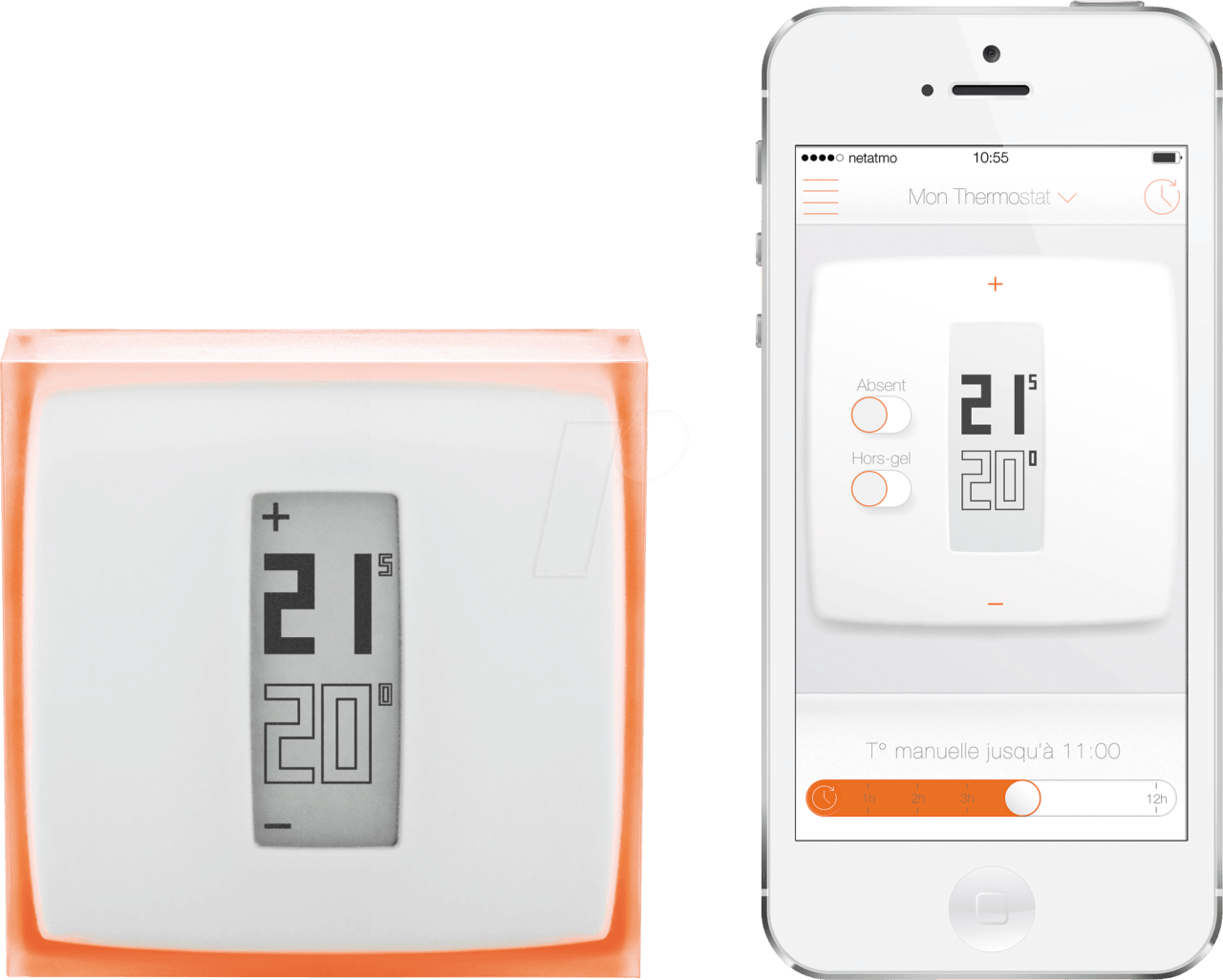 Transparent/White Netatmo NTH01-DE-EC Smart Thermostat.1