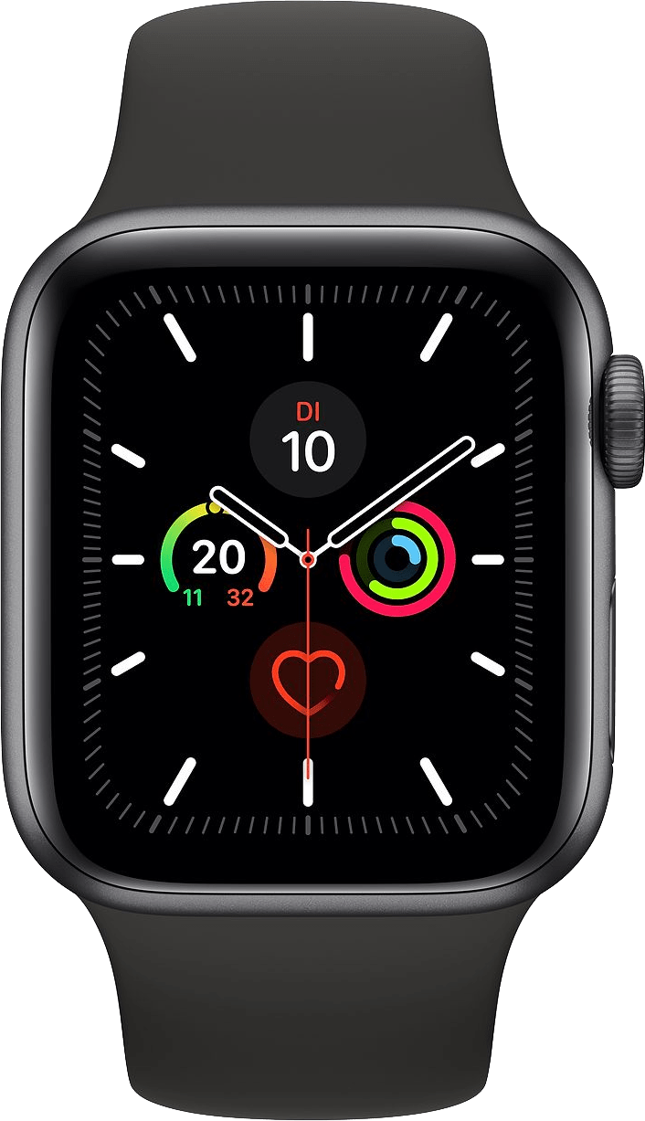 Schwarz Apple Watch Series 5 GPS, 40mm.1