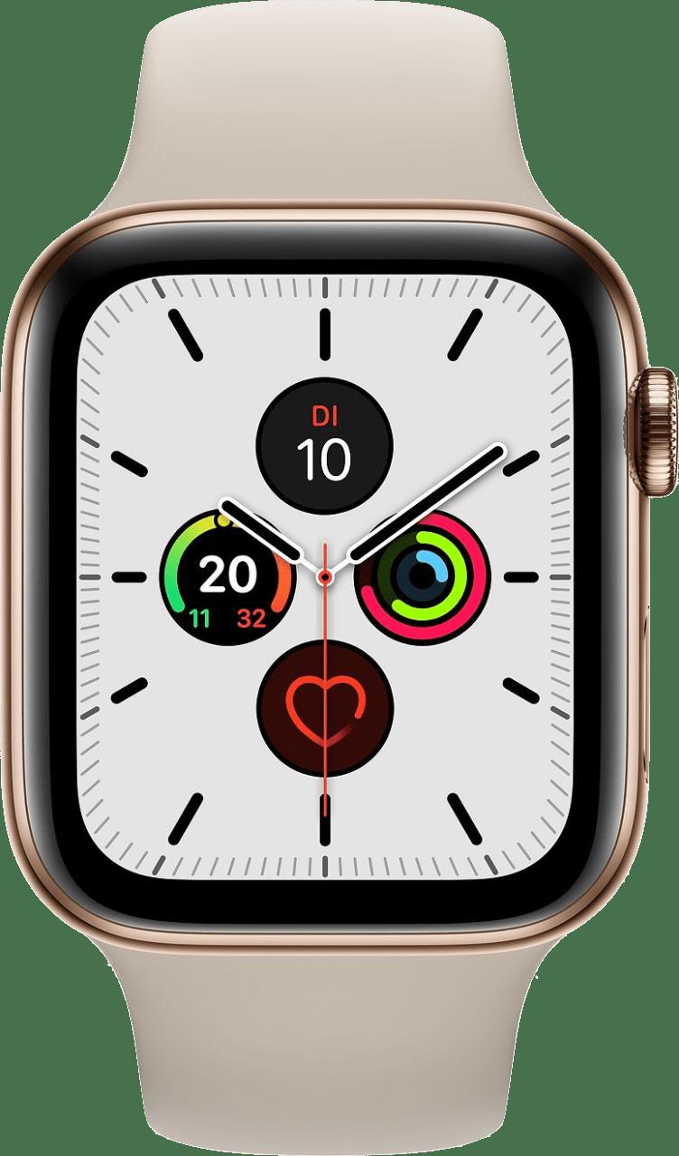 Stein Apple Watch Series 5 GPS + Cellular, 44-mm-Edelstahlgehäuse, Sportarmband.1