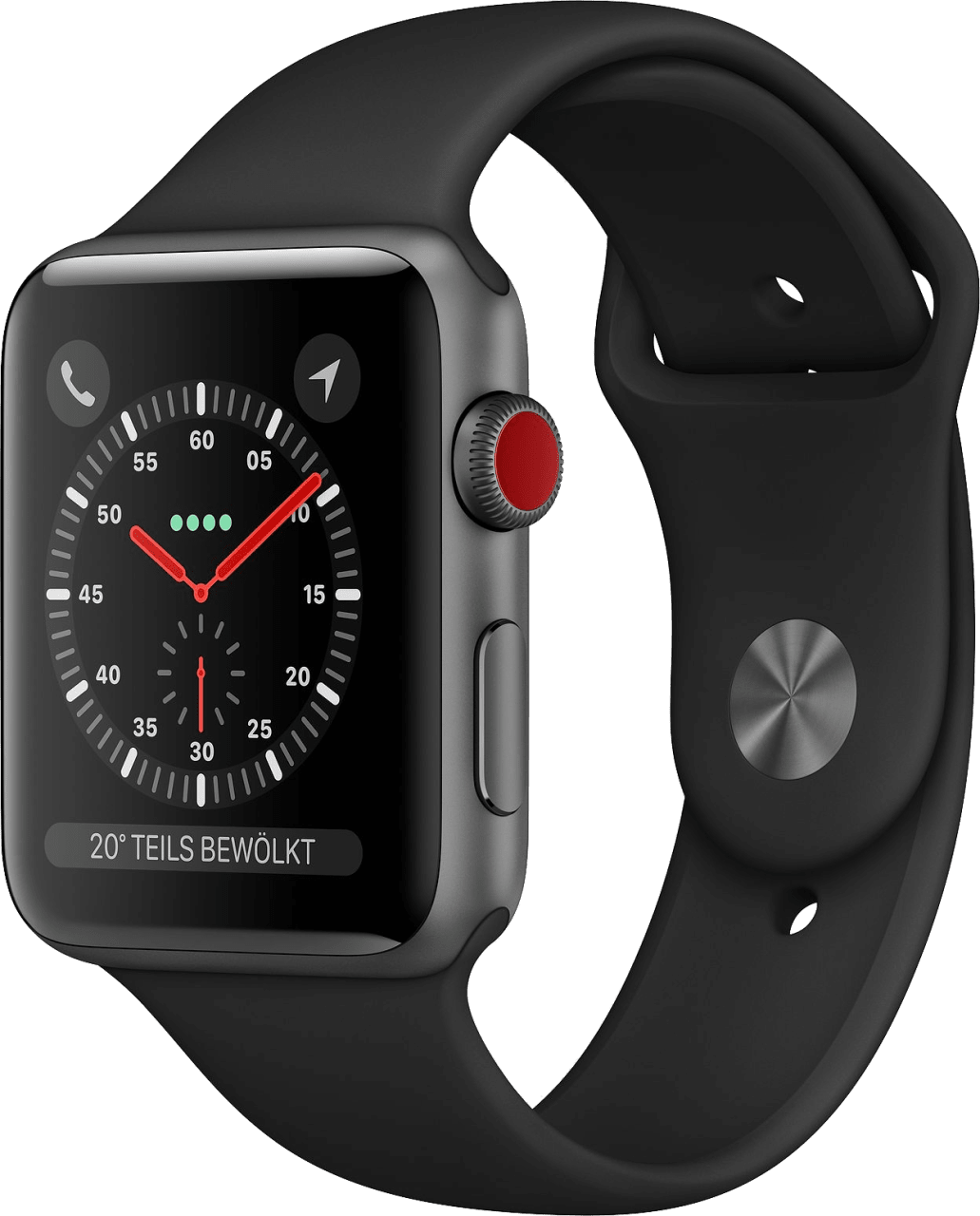 Schwarz Apple Watch Series 3 GPS + Cellular, 42mm.2