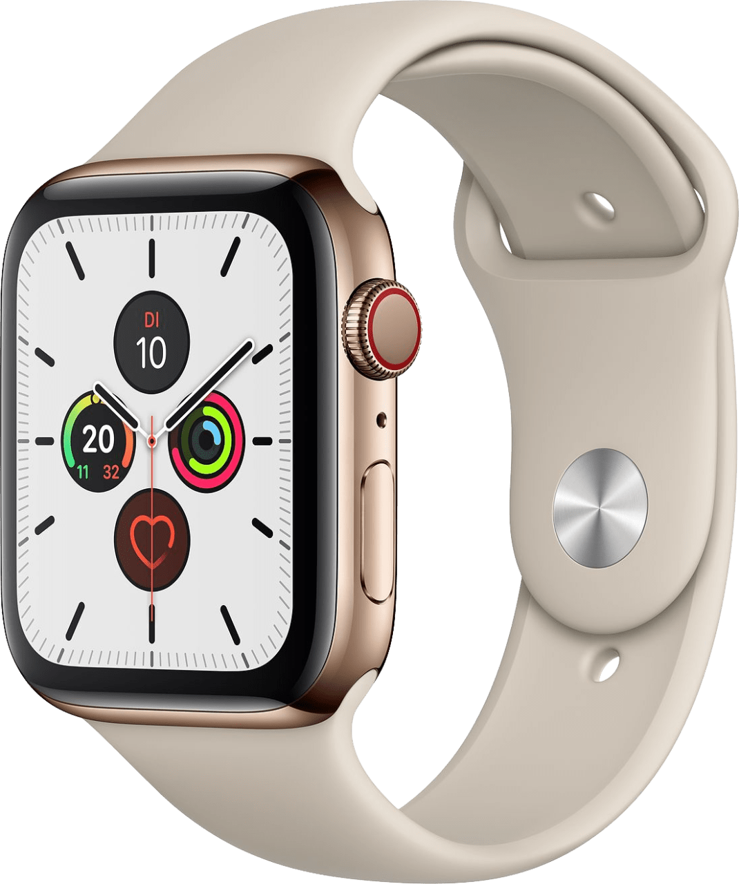 Stone Apple Watch Series 5 GPS + Cellular, 40mm Stainless steel case, Sport band.2