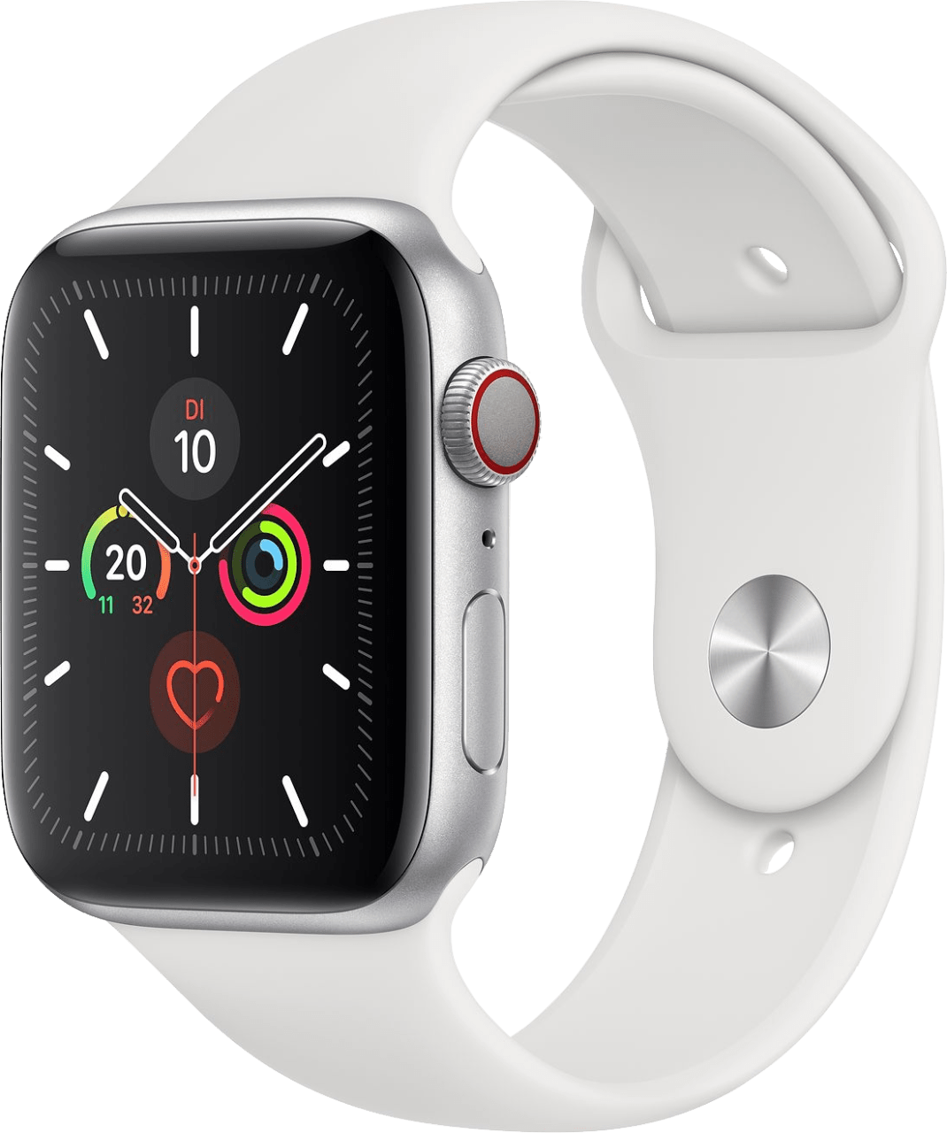 White Apple Watch Series 5 GPS + Cellular, 40mm.2