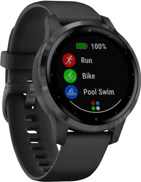 Black Garmin Vivoactive 4s GPS Sports watch.2