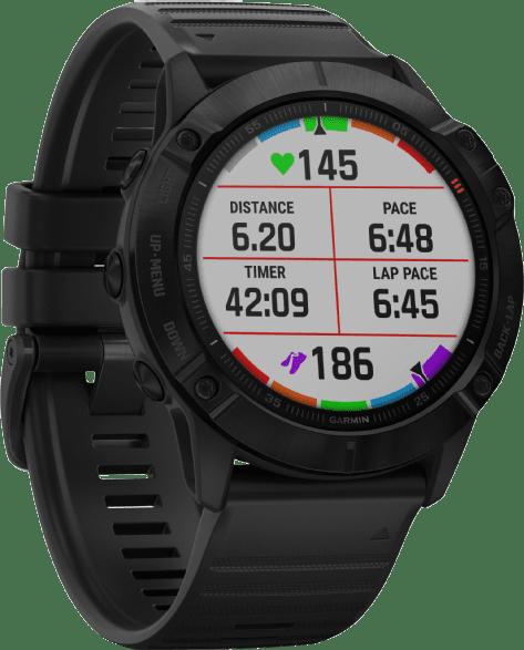 Black Garmin Fenix 6x Pro GPS Sports watch.2