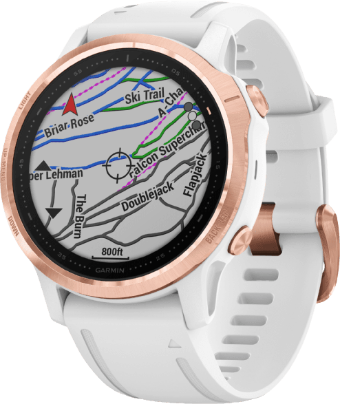 White Garmin Fenix 6s Pro GPS Sports watch.3