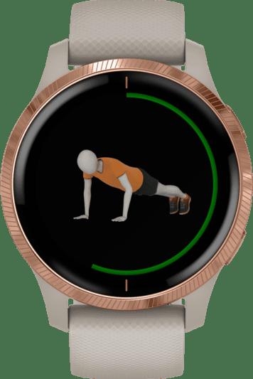 Beige Garmin Venu Smartwatch.4