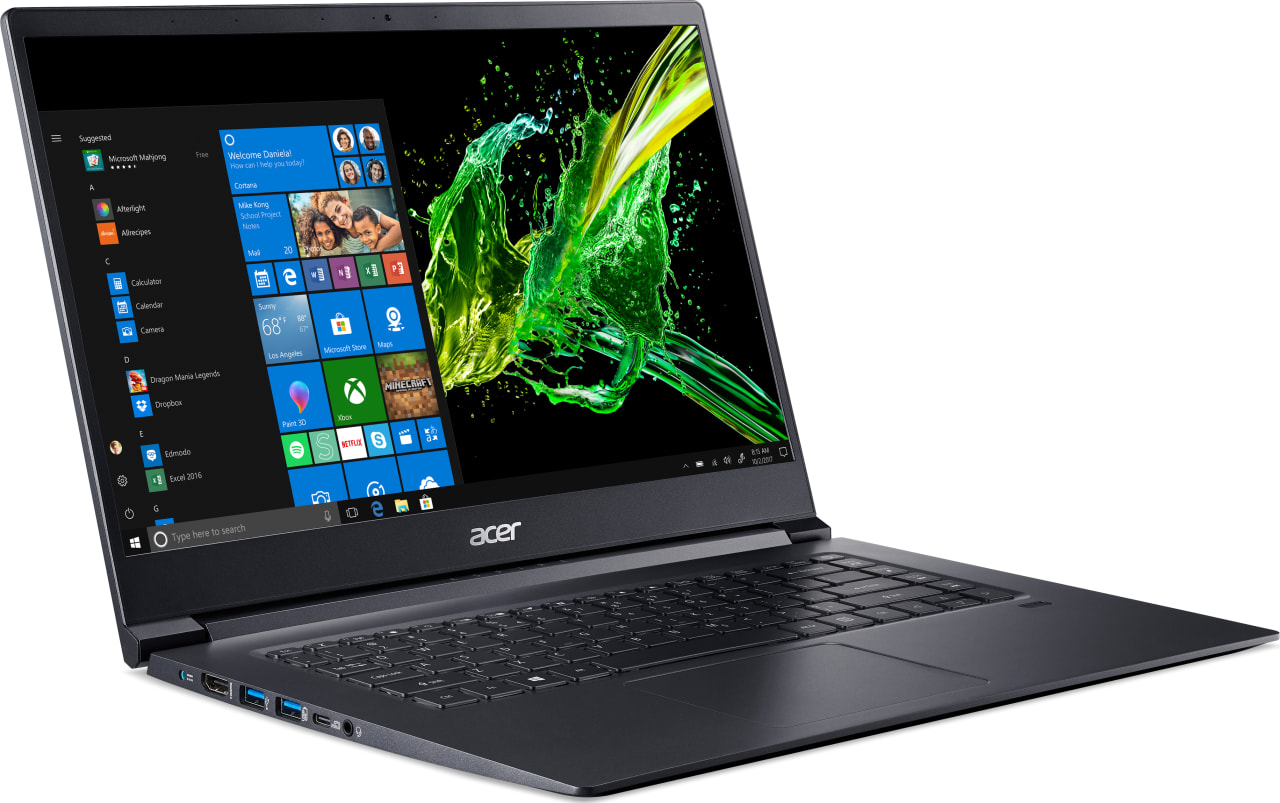 Black Acer Aspire 7 A715-73G-56YJ.4