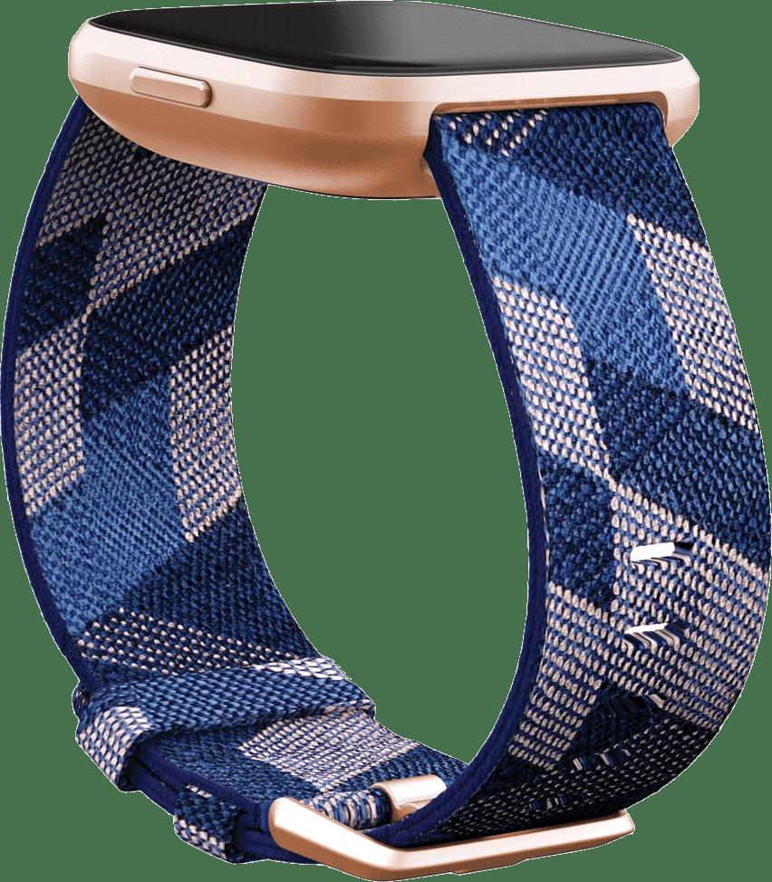 Navy blue/Pink Fitbit Versa 2 SE Smartwatch.4