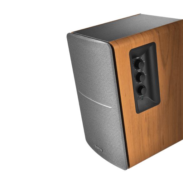 Wood Edifier Studio R1280DB Active 2.0 bookshelf HiFi speaker.2