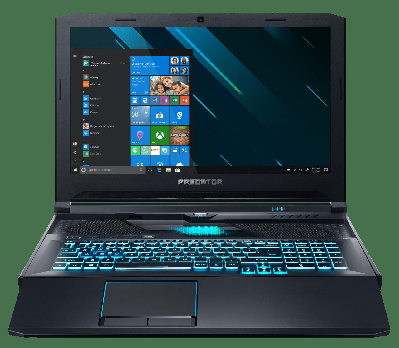 Schwarz / Blau Acer Predator Helios 700 PH717-71-711Q.1