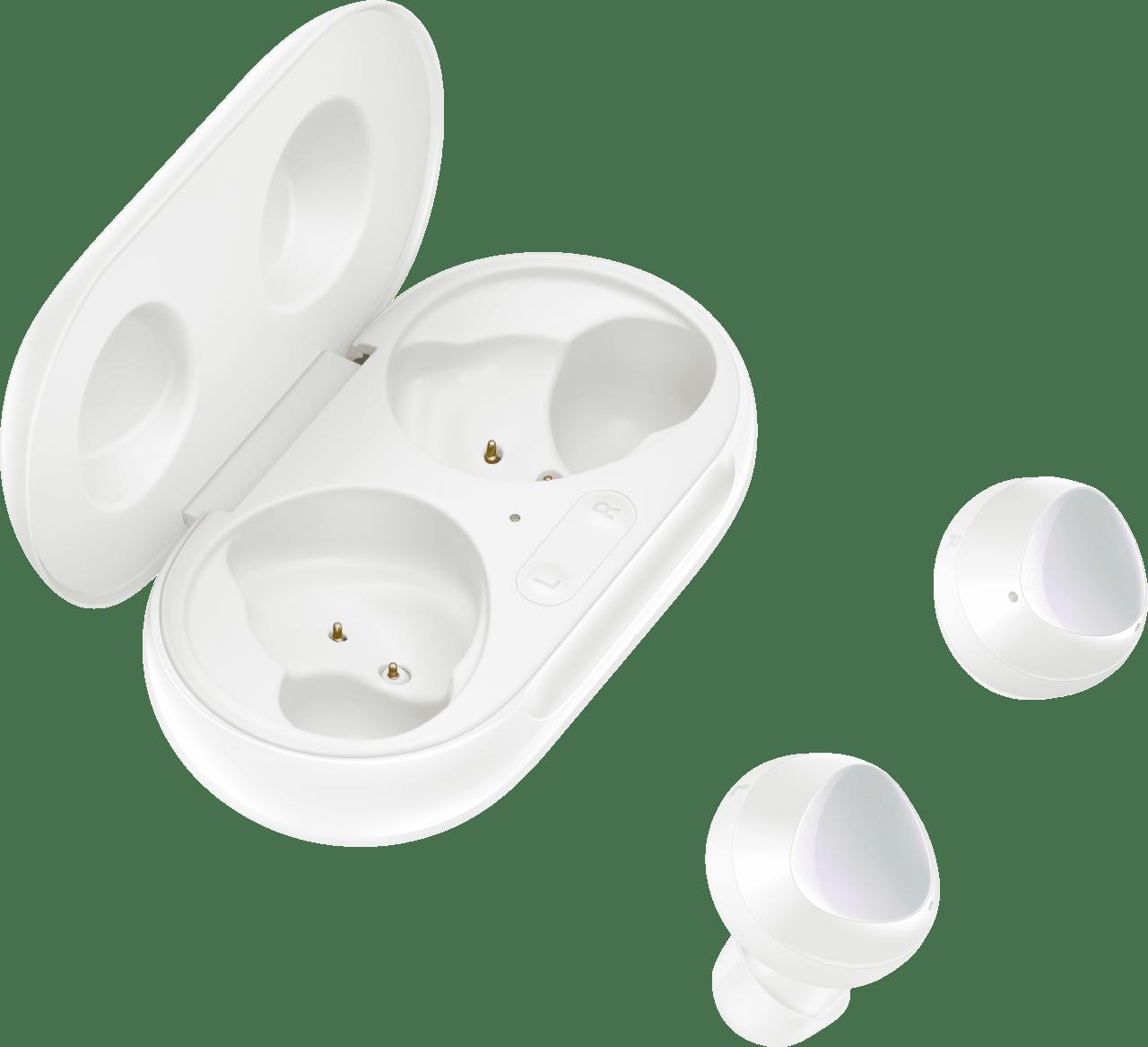 White Samsung Galaxy Buds+ In-ear Bluetooth Headphones.4