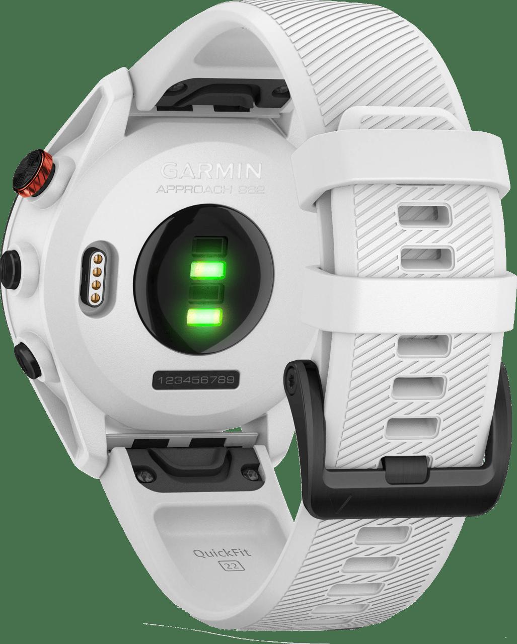 Weiß Garmin Approach® S62 GPS Premium Golf GPS-Uhr.4