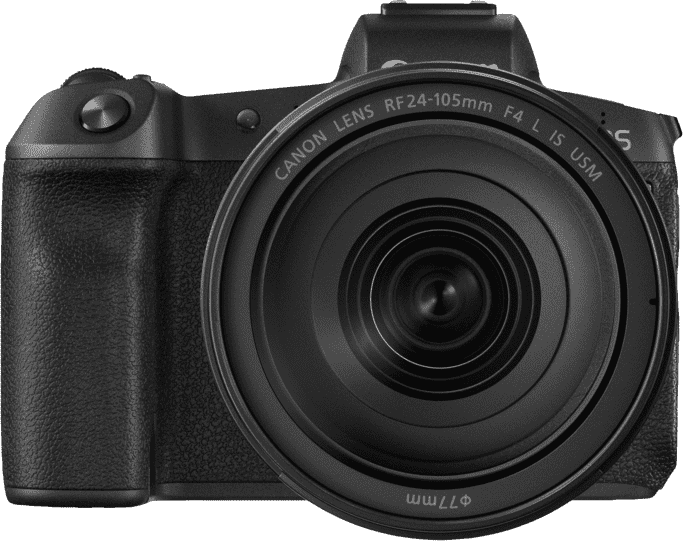 Black CANON EOS R Kit with RF24-105MM F4.0 and EF-EOS R Adapter.2