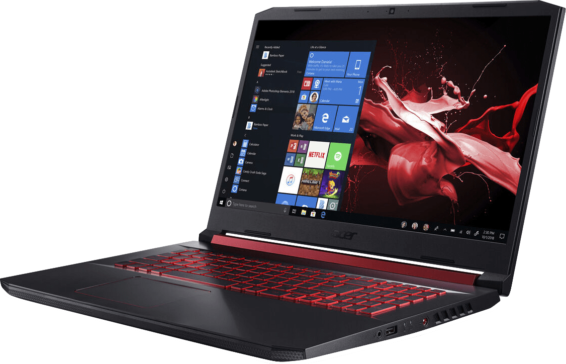Black / Red Acer Nitro 5 AN517-51-76B3.2