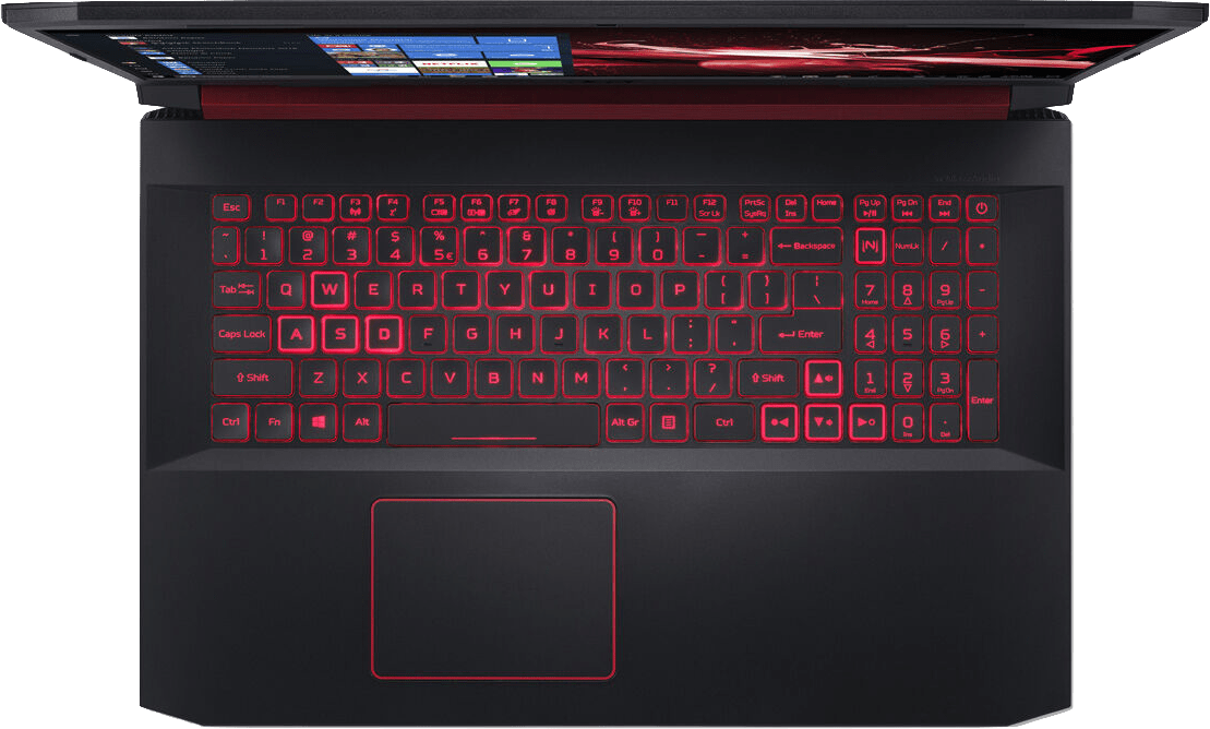 Black / Red Acer Nitro 5 AN517-51-76B3.4