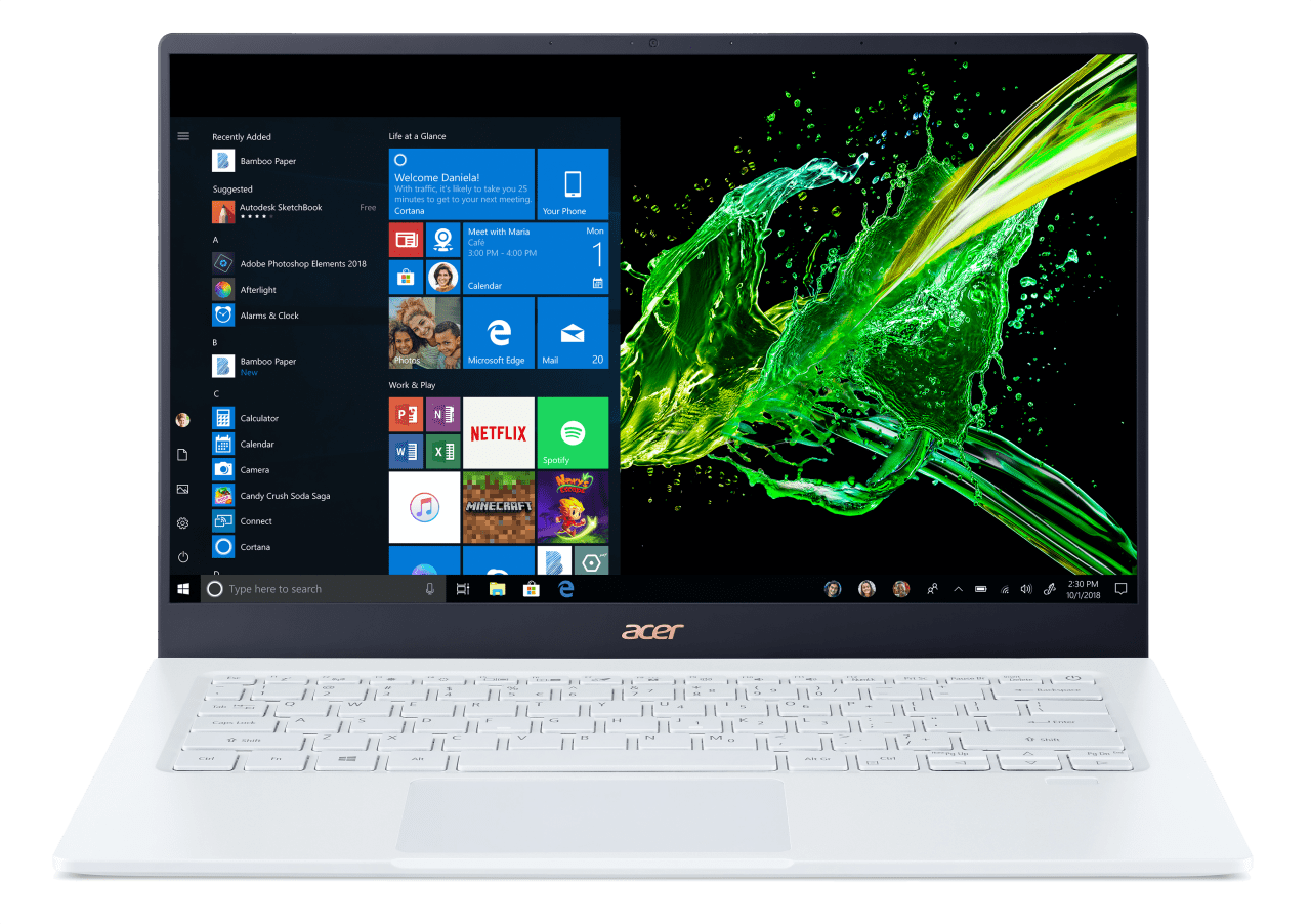 Weiß Acer Swift 5 SF514-54GT-707Z.1