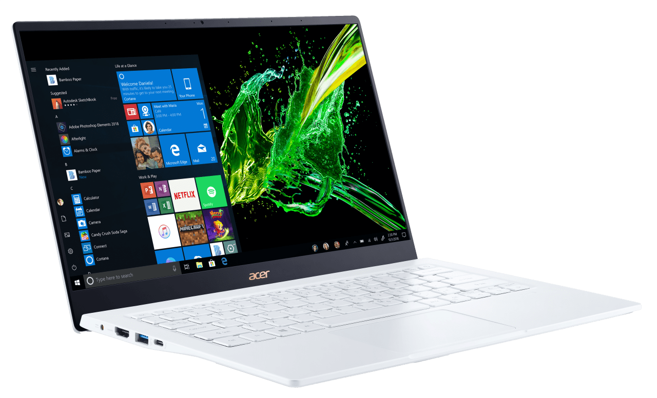 Weiß Acer Swift 5 SF514-54GT-707Z.2