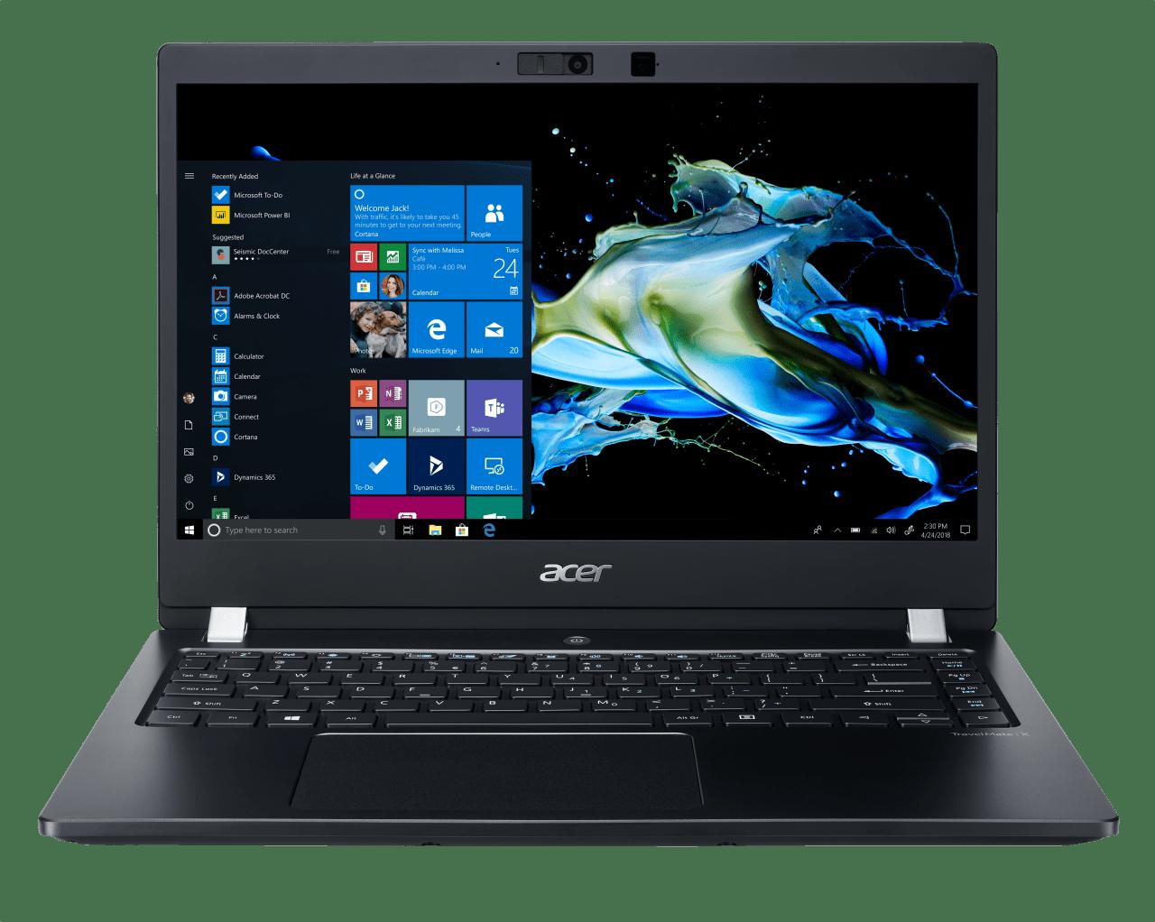 Schwarz Acer TravelMate X3 X314-51-MG.1