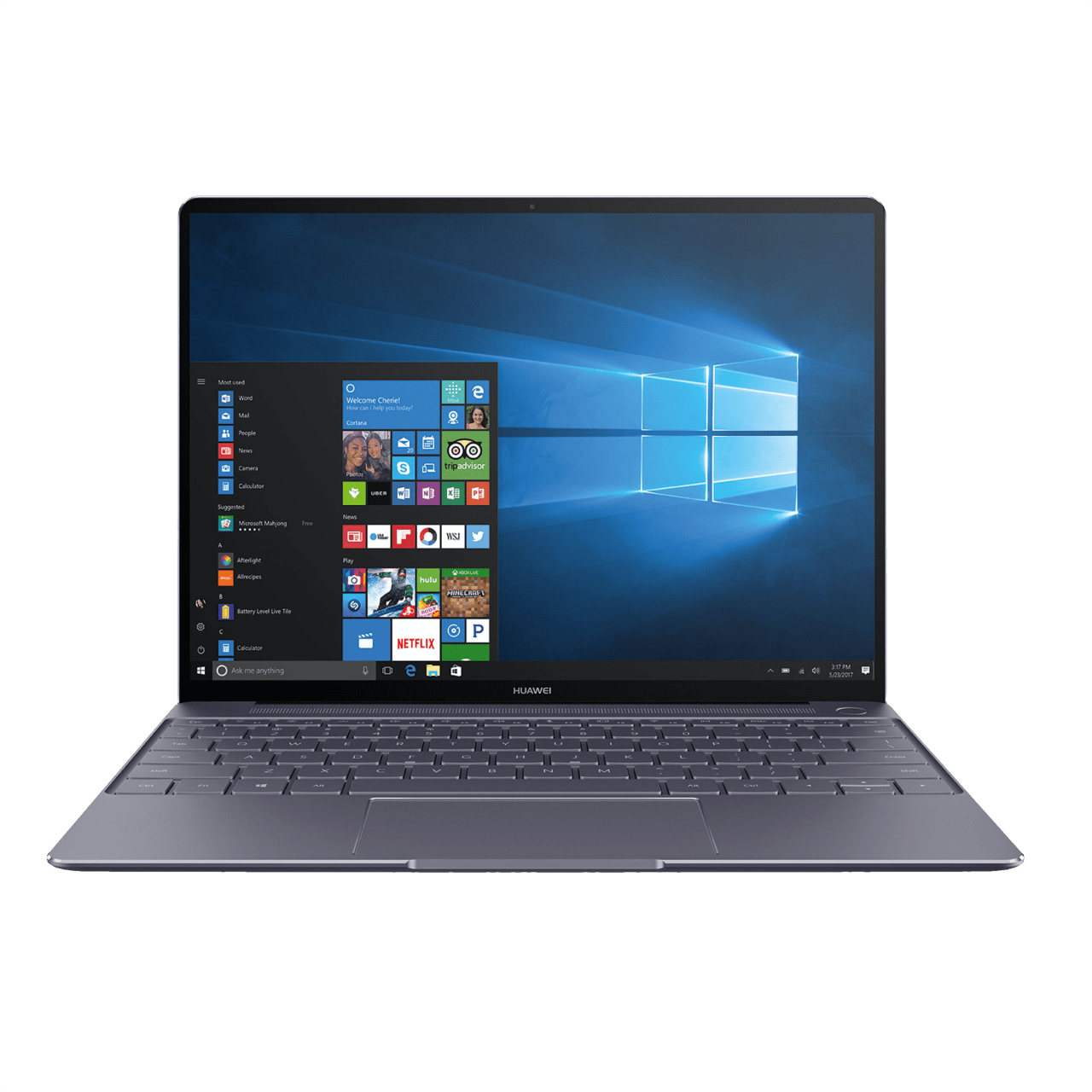 Metallic Grey Huawei MateBook X.1