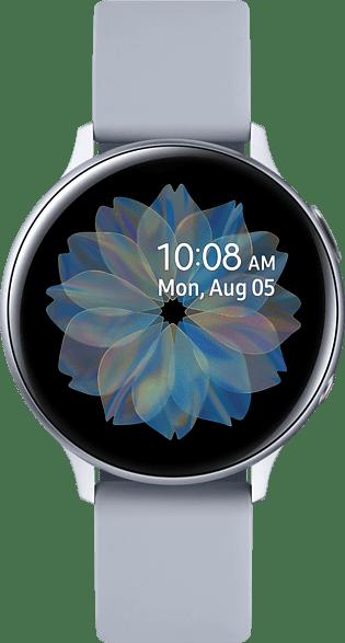 Plata Samsung Galaxy Watch Active2 LTE, 44mm Aluminium case, Fluororubber Strap.1