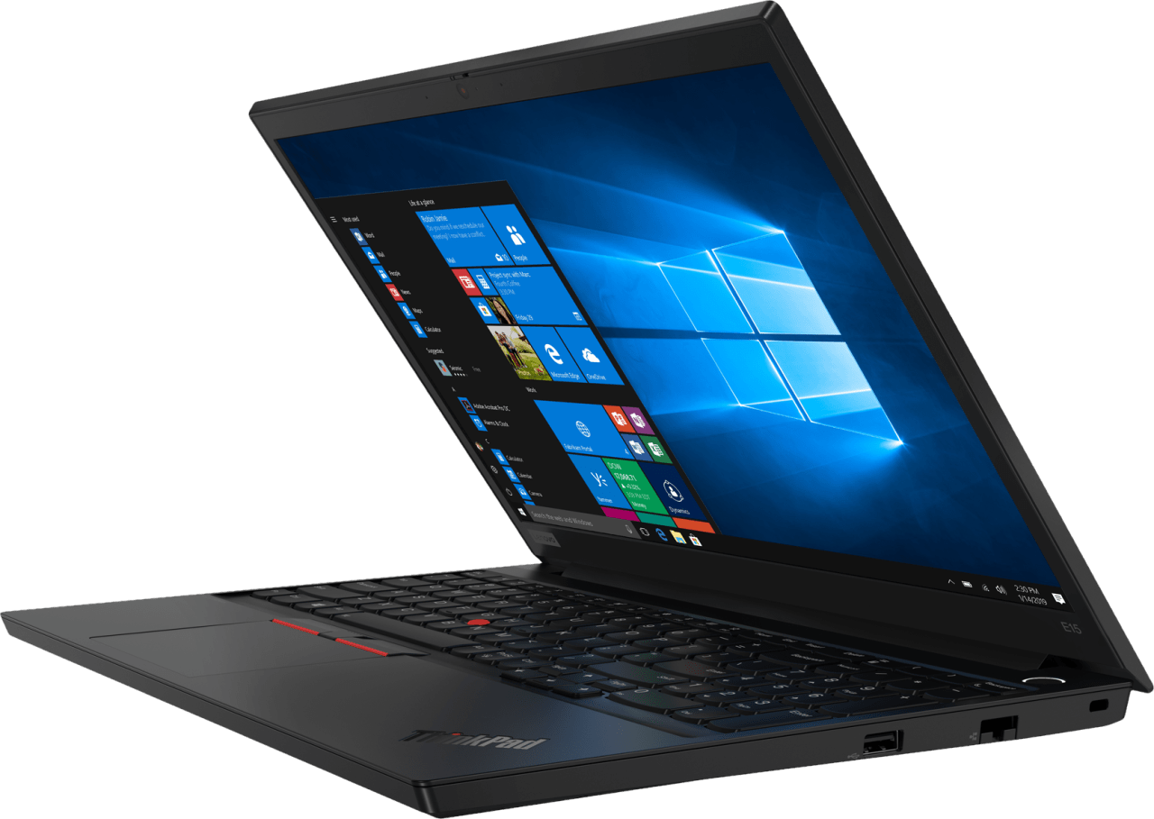 Black Lenovo ThinkPad E15.2