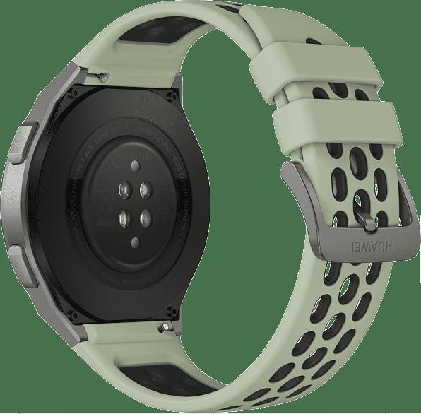 Mint green Huawei Watch GT 2e, 46mm Metal case,  Plastic fluoroelastomer band.3