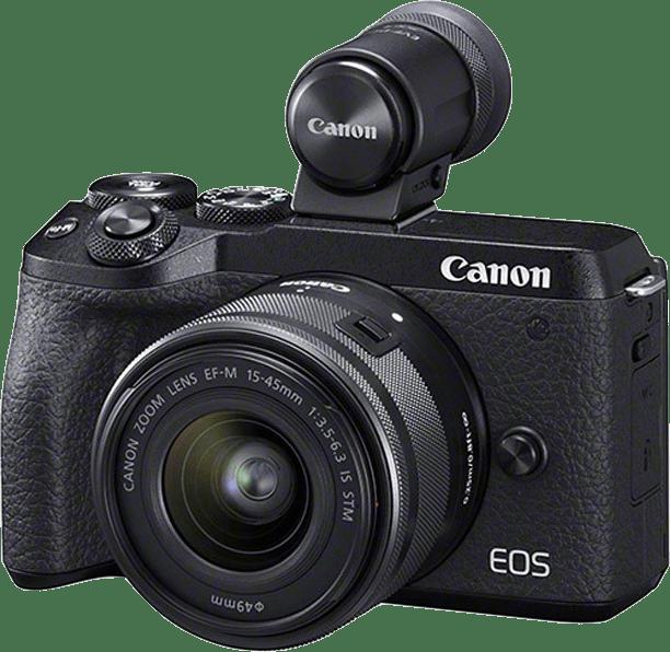 Black Canon EOS M6 Mark II + EF-M 15 - 45mm.1