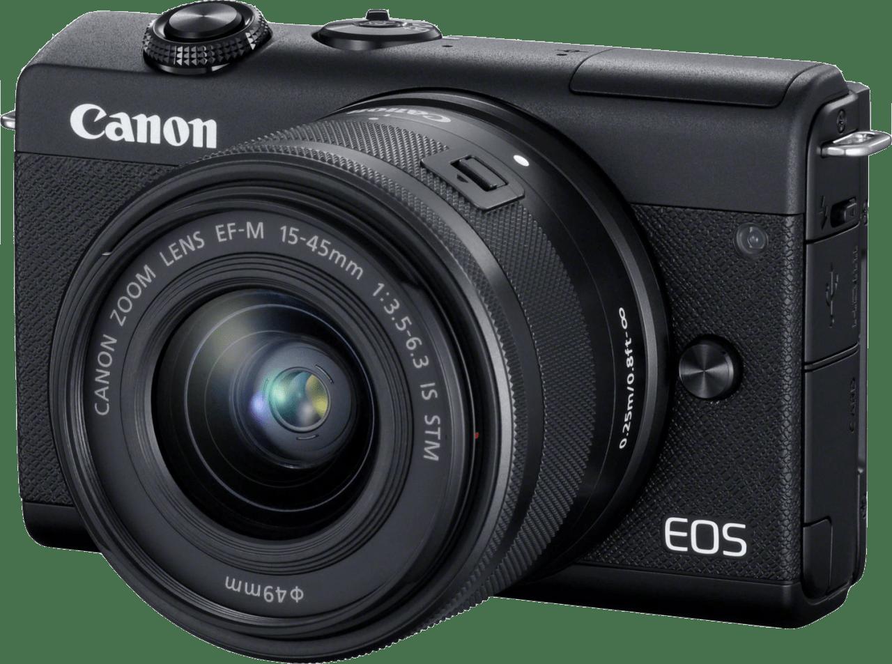 Black Canon EOS M200 Kit (EF-M 15 - 45mm Lens).1