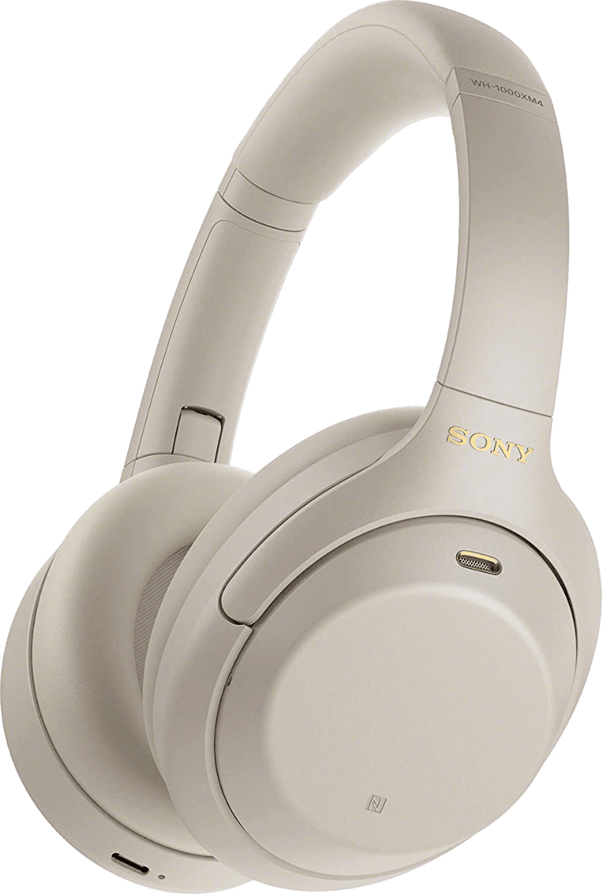 Silber Sony WH-1000 XM4 Noise-cancelling Over-ear Bluetooth Headphones.1