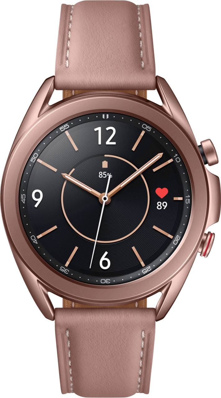 Mystic Bronze Samsung Galaxy Watch 3 (LTE), 41mm Stainless steel case, Real leather band.3