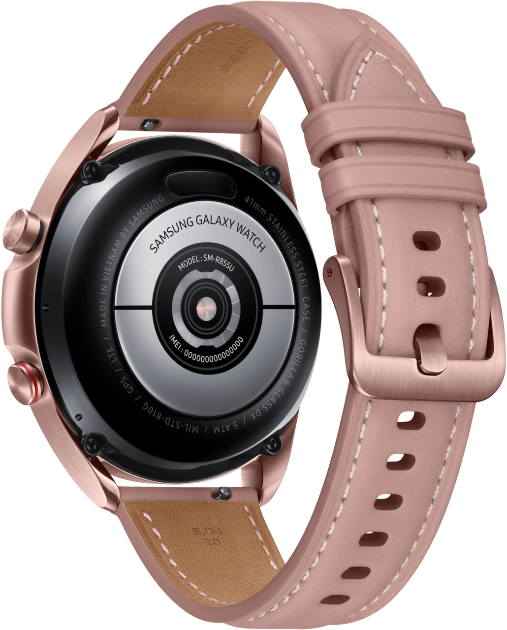 Mystic Bronze Samsung Galaxy Watch 3 (LTE), 41mm Stainless steel case, Real leather band.2