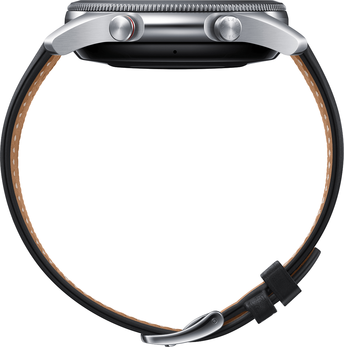 Mystic Silver Samsung Galaxy Watch 3 (LTE), 45mm Stainless steel case, Real leather band.4