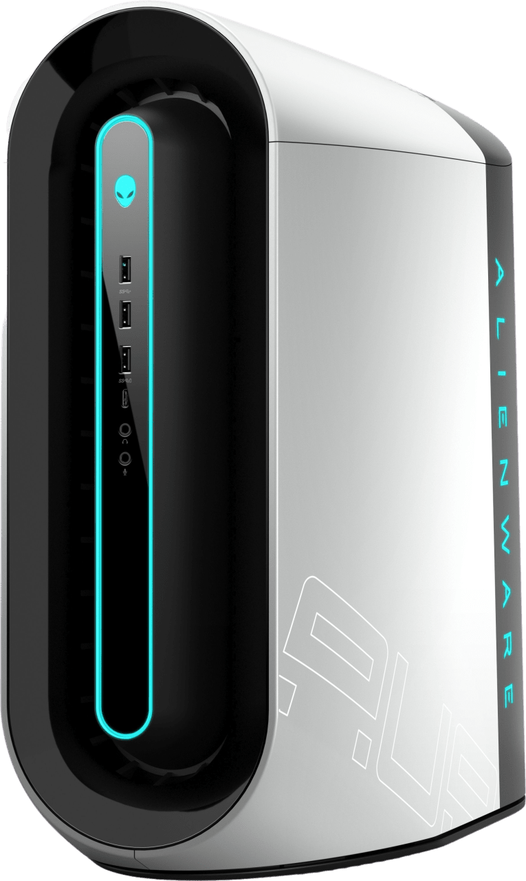 White Alienware Aurora R10.1