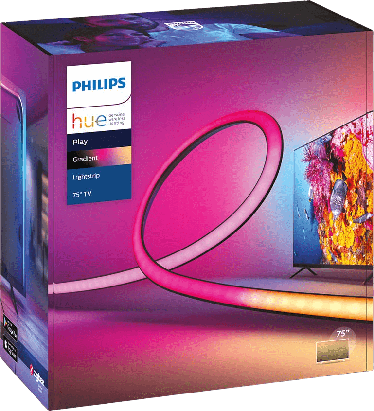Black Philips Hue Play Gradient Lightstrip (75-inch).2