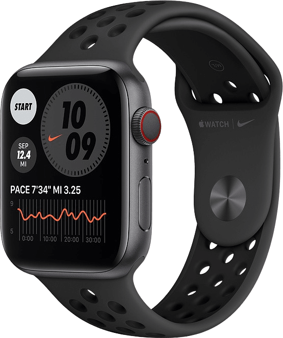 Anthracite/black Apple Watch Nike Series 6 GPS + Cellular , 40mm Aluminium case, Sport band.1